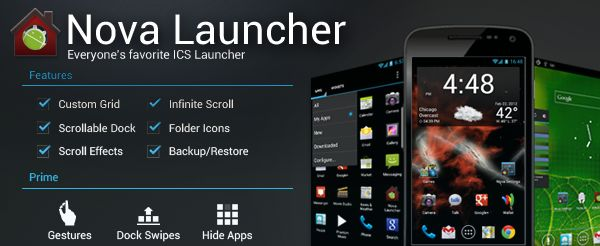 nova launcher for android