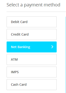 paytm recharge payment method