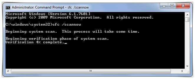 sfc scannow cmd command