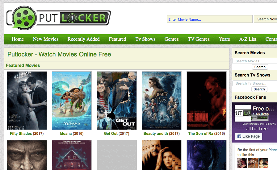 putlocker.fm website