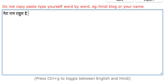 type hindi using keyboard on hindi converter website
