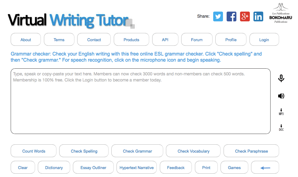 virtual writing tutor